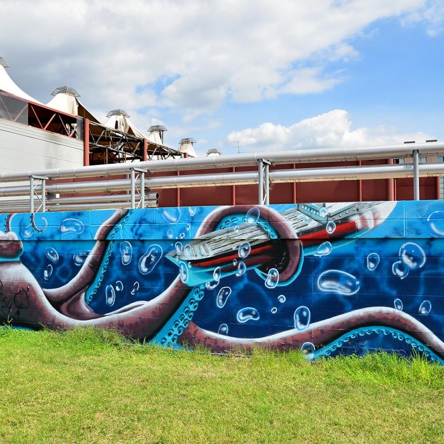 Streetmap mappa della street art a ferrara for Piantina della piscina